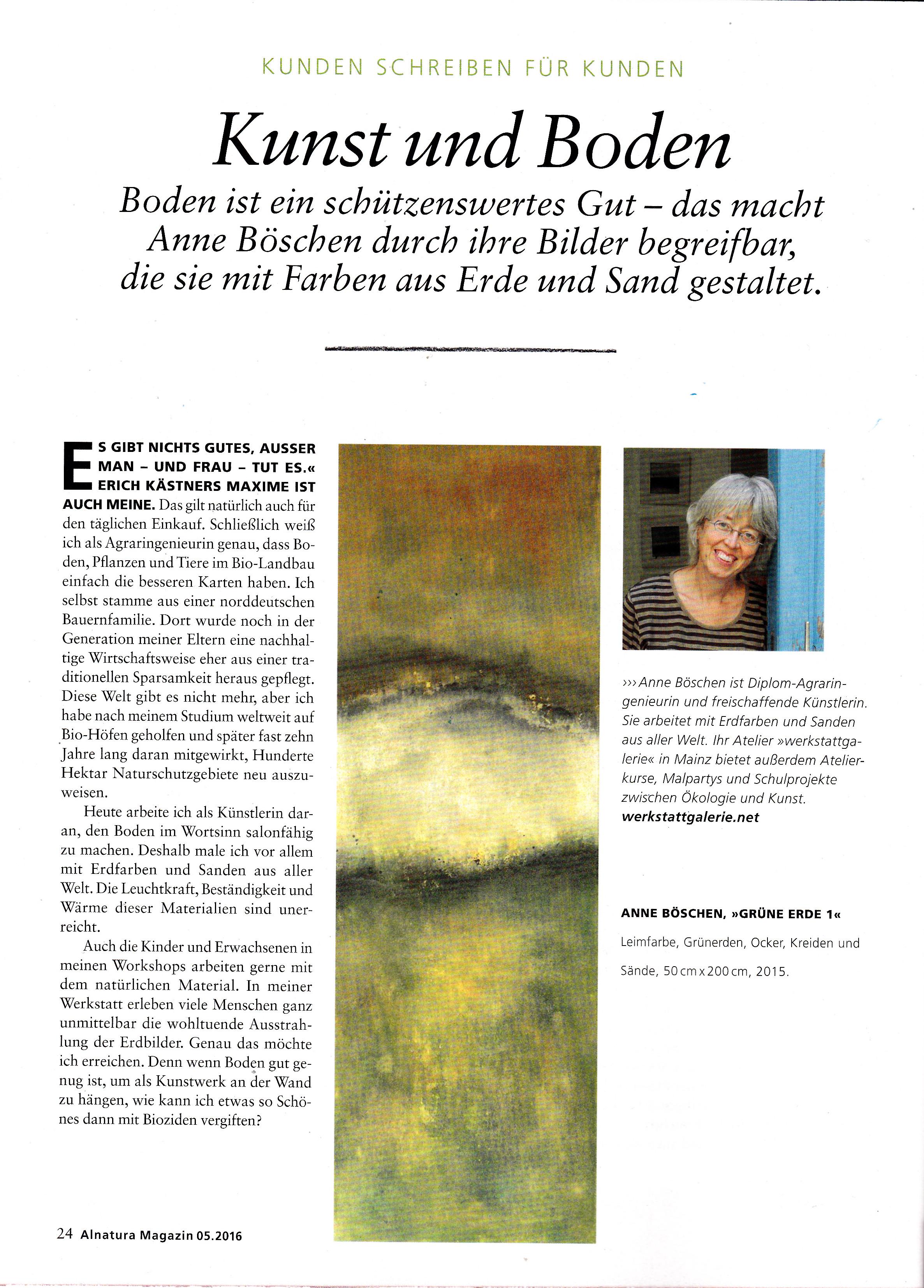 Alnatura Magazin Mai 2016
